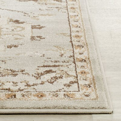 McCabe Grey / Ivory Area Rug Rug Size: Rectangle 4 x 6