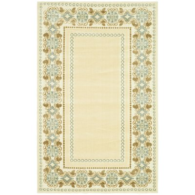Taj Mahal Hand-Woven Cream Area Rug Rug Size: Rectangle 27 x 4