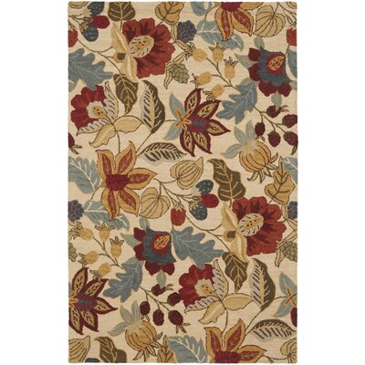 Driffield Hand-Tufted Beige Area Rug Rug Size: 9 x 12