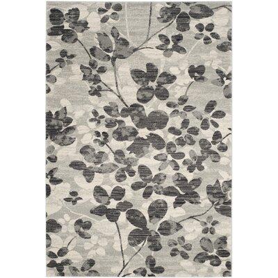 Pike Grey / Black Indoor/Outdoor Area Rug Rug Size: 51 x 76