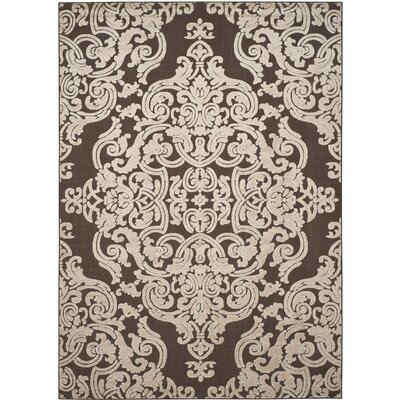 Barnett Brown Indoor/Outdoor Area Rug Rug Size: 53 x 77