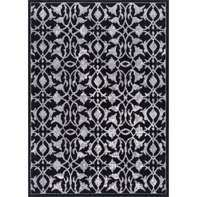 Clifton Black/Gray Area Rug Rug Size: 53 x 73