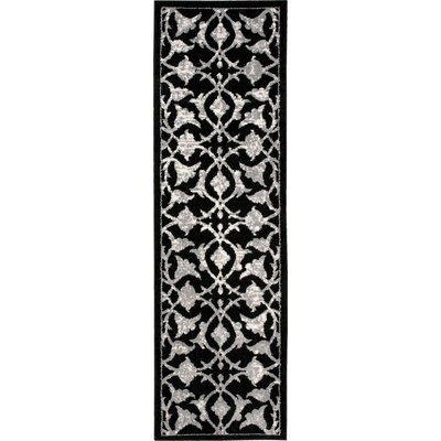 Clifton Black/Gray Area Rug Rug Size: Runner 22 x 73