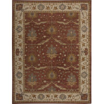 Exmoor Red Area Rug Rug Size: Rectangle 36 x 56