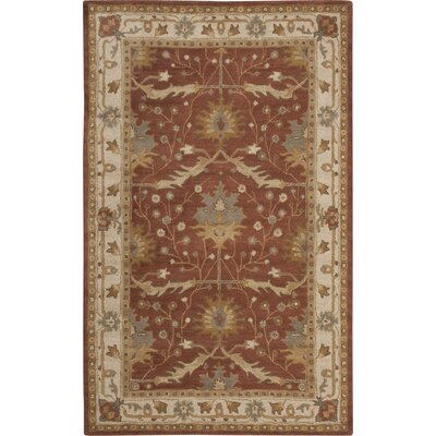 Exmoor Red Area Rug Rug Size: 5 x 8