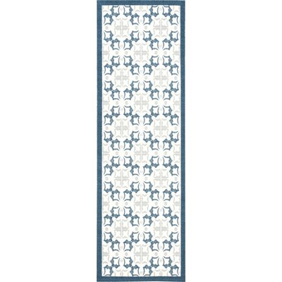 Hanson Blue/White Area Rug Rug Size: Runner 26 x 8