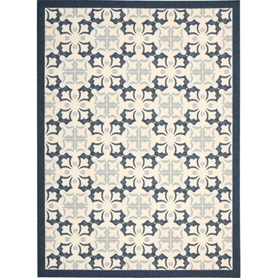 Hanson Blue/White Area Rug Rug Size: Rectangle 5 x 7