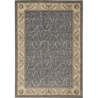 Godfrey Light Blue/Beige Area Rug Rug Size: Round 56