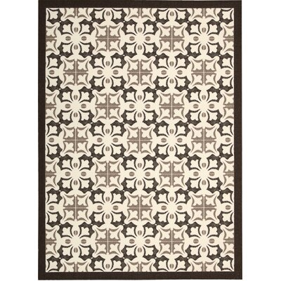 Hanson Brown/White Area Rug Rug Size: Rectangle 8 x 10