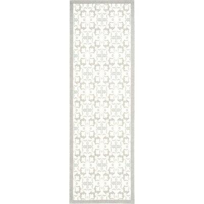 Hanson Gray/White Area Rug Rug Size: Runner 26 x 8