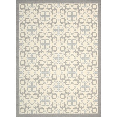 Hanson Gray/White Area Rug Rug Size: Rectangle 5 x 7