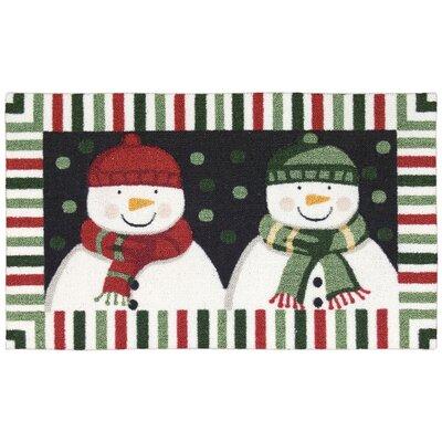 Hanson Double Snowman Area Rug Rug Size: 18 x 29