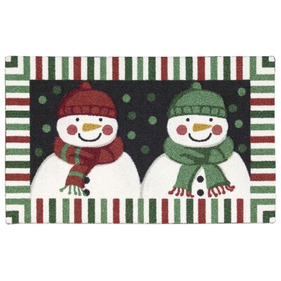 Hanson Double Snowman Area Rug Rug Size: Rectangle 16 x 26
