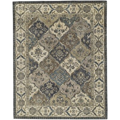 Corsham Hand-Tufted Wool Brown/Beige Area Rug Rug Size: Round 10