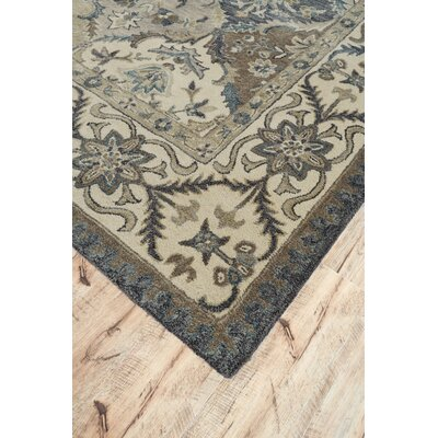 Corsham Hand-Tufted Wool Brown/Beige Area Rug Rug Size: Round 8
