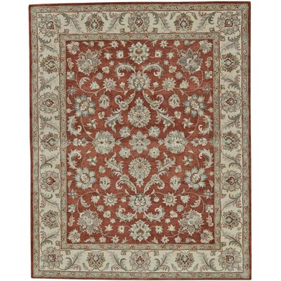 Corsham Hand Tufted Rust Area Rug Rug Size: 5 x 8