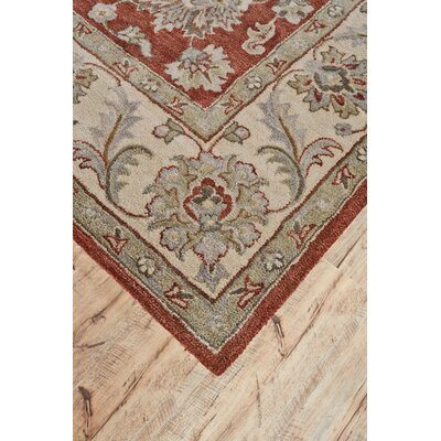 Corsham Hand Tufted Rust Area Rug Rug Size: Round 10