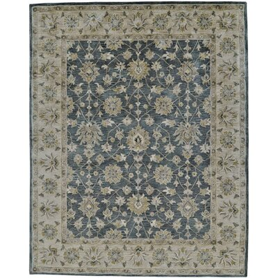 Corsham Hand Tufted Smoke Area Rug Rug Size: Rectangle 36 x 56