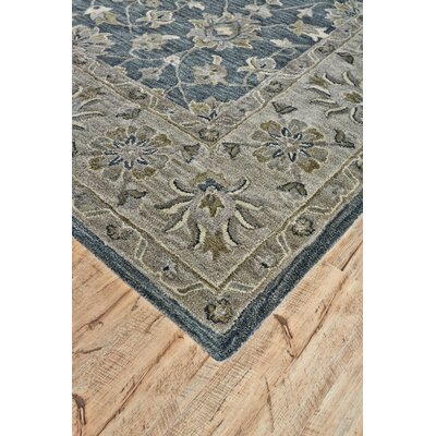 Corsham Hand Tufted Smoke Area Rug Rug Size: Round 10