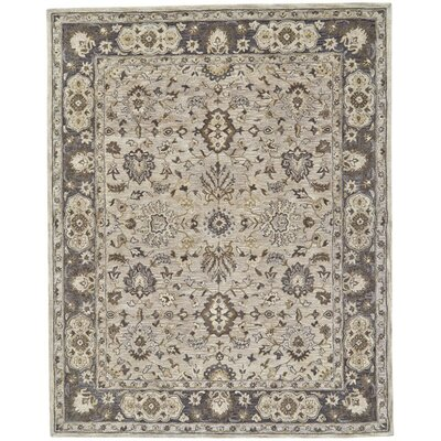 Corsham Hand Tufted Gray Area Rug Rug Size: Rectangle 36 x 56