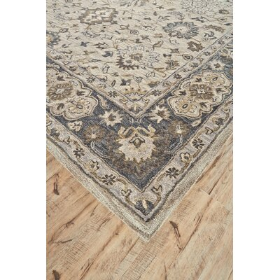 Corsham Hand Tufted Gray Area Rug Rug Size: Round 8