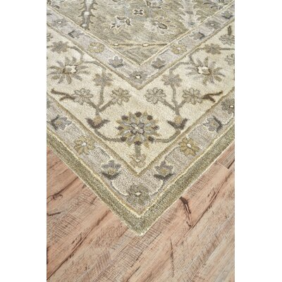 Corsham Hand-Tufted Sage Area Rug Rug Size: Runner 26 x 10