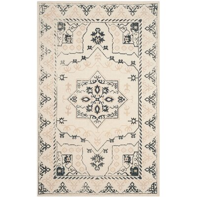 Driffield Hand-Tufted Ivory/Charcoal Area Rug Rug Size: 3 x 5