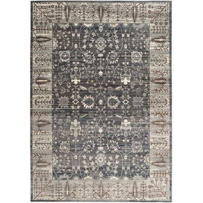 Filton Dark Gray/Light Gray Area Rug Rug Size: 2 x 3