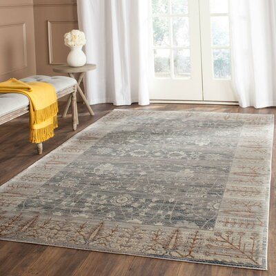 Filton Dark Gray/Light Gray Area Rug Rug Size: Rectangle 4 x 6