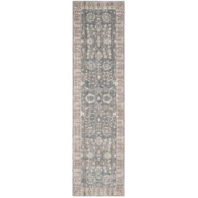 Filton Dark Gray/Light Gray Area Rug Rug Size: Runner 23 x 12