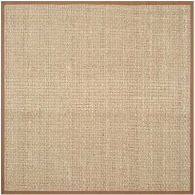 Driffield Hand-Woven Natural/Brown Area Rug Rug Size: Square 6