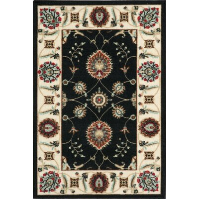 Brayton Black/Beige Area Rug Rug Size: Rectangle 2 x 3