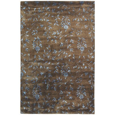 Alvan Hand-Tufted Brown / Light Blue Area Rug Rug Size: Rectangle 2 x 3