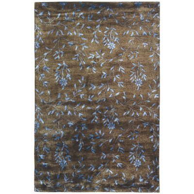 Alvan Hand-Tufted Brown / Light Blue Area Rug Rug Size: Rectangle 96 x 136