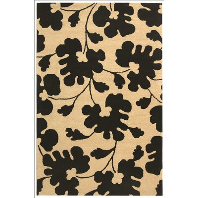 Alvan Hand-Tufted Beige/Black Area Rug Rug Size: Rectangle 3 x 5
