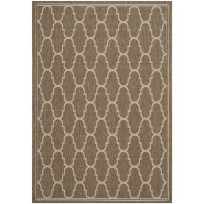 Altona Brown/Beige Indoor/Outdoor Area Rug Rug Size: 53 x 77