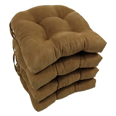 Abbottsmoor Dining Chair Cushion Color: Saddle Brown