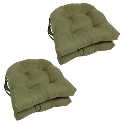 Abbottsmoor Dining Chair Cushion Color: Sage