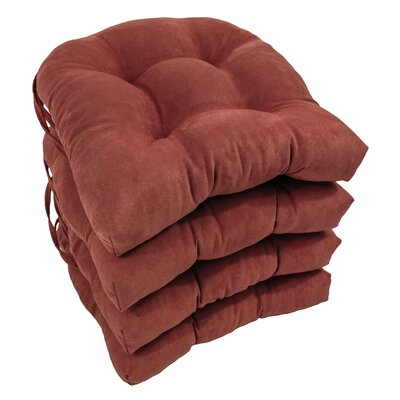 Abbottsmoor Dining Chair Cushion Color: Red Wine