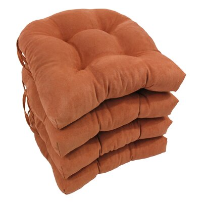 Abbottsmoor Dining Chair Cushion Color: Spice