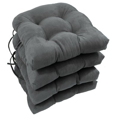 Abbottsmoor Dining Chair Cushion Color: Grey