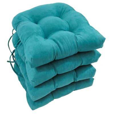 Abbottsmoor Dining Chair Cushion Color: Aqua Blue