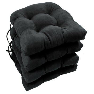 Abbottsmoor Dining Chair Cushion Color: Black