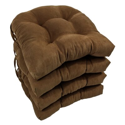 Abbottsmoor Dining Chair Cushion Color: Chocolate