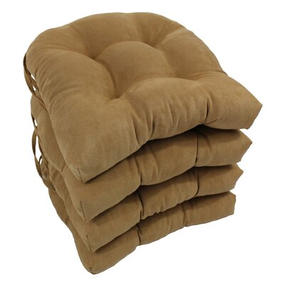 Abbottsmoor Dining Chair Cushion Color: Camel