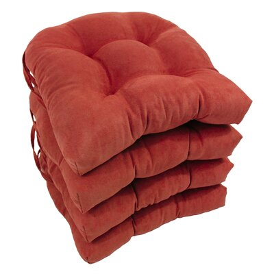 Abbottsmoor Dining Chair Cushion Color: Cardinal Red