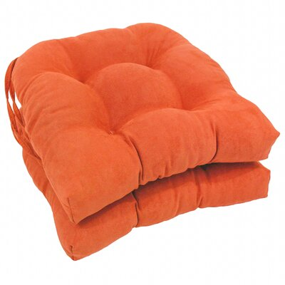 Abbottsmoor Dining Chair Cushion Color: Tangerine Dream