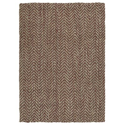 Otto Hand-Loomed Brick Area Rug Rug Size: Rectangle 5 x 76