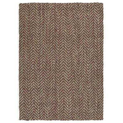 Otto Hand-Loomed Brick Area Rug Rug Size: 8 x 10