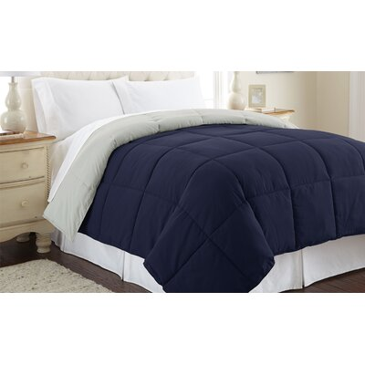 Down Alternative Reversible Comforter Size: Full/Queen, Color: Eclipse / Silver